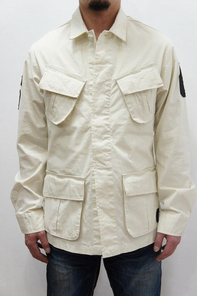 メンズファッション, コート・ジャケット 30OFFjunhashimoto 2018SS1051810006 RIPSTOP FATIQUE SHIRTS WHITE sale