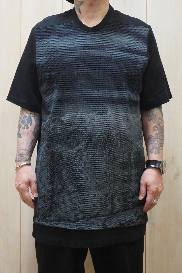トップス, Tシャツ・カットソー 40OFF JULIUS 707CUM8-P AVALANCHE MESH PRINT T-SHIRT T BLACK