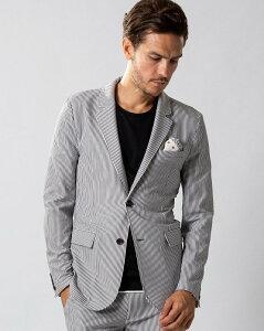 セール30%OFFメンズ wjk ダブルジェイケイ 2935 cf40m 4way seersucker jacket [19/bk x wh] 公式通販 シアサッカージャケット ブラック ホワイト