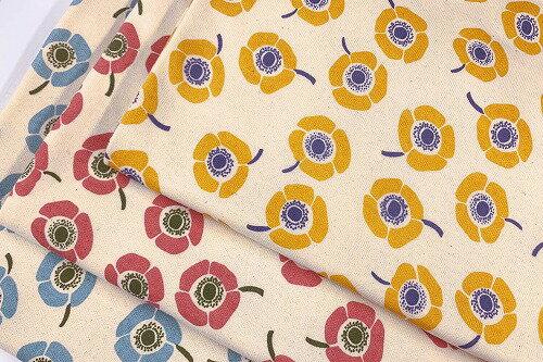裏起毛ニット 北欧 花柄 バオッコー注)個数1=10cmです。50cm以上、10cm単位での販売です。生地 布幅110cm 木綿のかおり