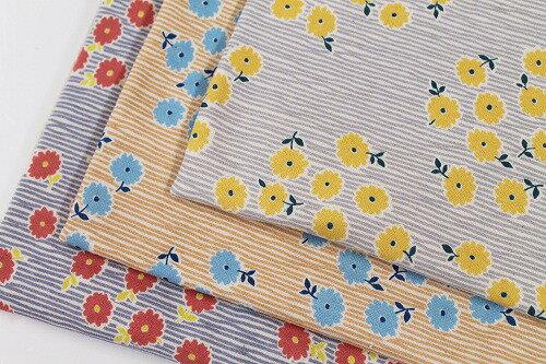 裏起毛ニット 北欧 花柄 ヴィルタ注)個数1=10cmです。50cm以上、10cm単位での販売です。生地 布幅110cm 木綿のかおり