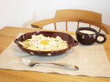 取っ手付き オーバル グラタン皿 Mサイズ 白色・飴色 耐熱 耐熱皿 常滑焼・日本製