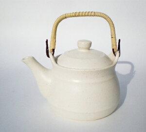 耐熱土瓶 直火対応1.4L 白色 8号 日本製 常滑焼 陶器製 やかん 漢方