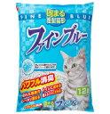 常陸化工 固まる紙製猫砂 ファインブルー 12L