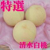 「岡山県産最高級の桃」清水白桃(4個〜6個)1.4kg 白く美しい果肉はとろけ...