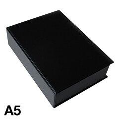 シンプルで使いやすいブック型ボックス。本棚を収納庫として使えます。A5ブック型ケース(ブラ...