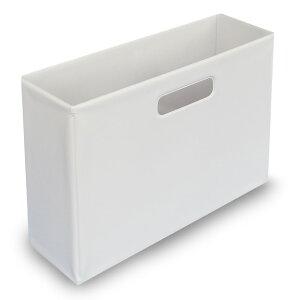 ファイルボックス(ホワイト)【monotone モノトーン 白黒 ケース 書類 収納 日用品 雑貨 インテリア シンプル】