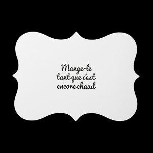 Set de table(ホワイト)【monotone モノトーン 白黒 デザイン ランチョンマット プレースマット シンプル A3 フレンチ フランス インテリア ウォールアート】