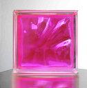 『ガラスブロック190x190x95日本基準サイズ ピンク』(割引不可...