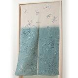 大感謝価格『秩父ちぢみ トンボとメダカのれん 150cm丈』暖簾 のれん 目隠し 仕切 和風 日本製 手洗い