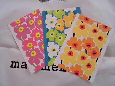 北欧フィンランド Marimekko(マリメッコ)ポストカード(日本未入荷)