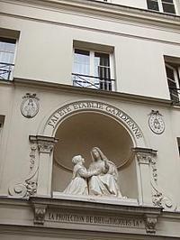 フランスパリ奇跡の教会不思議のメダイ(ゴールド色)