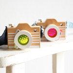 kiko+(キコ)camera(カメラ)ピンク、イエロー木のおもちゃ【誕生日2歳3歳4歳男女】【プレゼント贈り物】【キッズベビー】