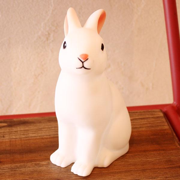 イギリスRex社 うさぎ、リス、ふくろうのミニランプ(ライト) Rabbit Mini Night Light(Lamp)ギフトやプレゼントにも人気!【インテリア 雑貨 電気 LED照明】【ベッドサイド 子供部屋 リビング】【ウサギ 置物】