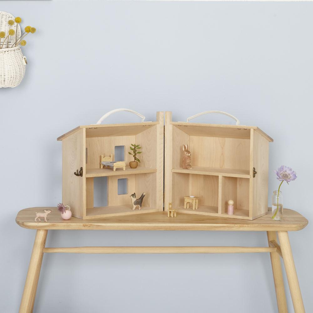 Olli Ella(オリエラ)Holdie House 木製ドールハウス【キッズ 子供】【インテリア】【ままごとハウス ミニチュア玩具】