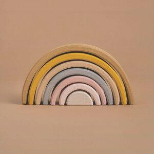 【予約商品】RADUGA GREZ(ラドガ グレ) Sand Small arch stacker 木製スタッカー 【積み木 木製ブロック】【おしゃれ インテリア】【知育玩具 パズル】【ご出産お祝い 贈り物】