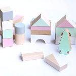 happylittlefolks(ハッピーリトルフォークス)woodenblocks(木製ブロック)Springcolours出産祝い・ギフトや誕生日プレゼントに人気!【子供ベビーキッズ】【積み木知育玩具木製玩具】【木のおもちゃ】【プレゼント】【ごっこ遊び】