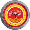 コカコーラCoca-colaWINGSネオンクロックレトロ壁掛時計