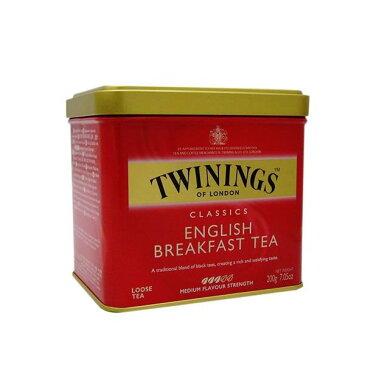 【12個セット】トワイニング紅茶(TWININGS) イングリッシュブレックファースト(ENGLISH BREAKFAST)リーフティ 200g×12