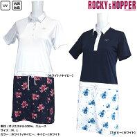 ROCKY&HOPPER ロッキー&ホッパー パッと目を引く大きく魅力的な花柄で魅せるワンピース 半袖台襟ワンピース RH-1734SL 5,082円送料別