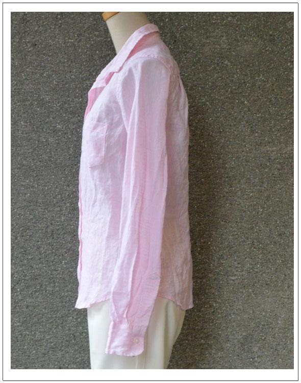 FRANK&EILEEN・フランク&アイリーンBARRY・麻シャツ(511070163)【カラー】21・ピンク