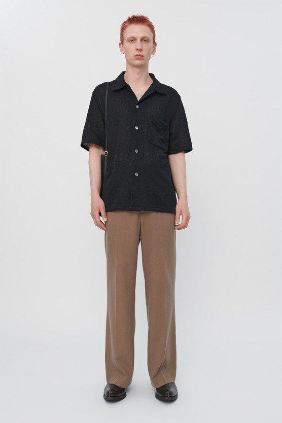 トップス, カジュアルシャツ OUR LEGACY BOX SHIRT SHORTSLEEVE BLACK BOUCLE (M2202BB)