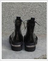 2012A/Wプラットフォームローファーブーティー(ブラック)