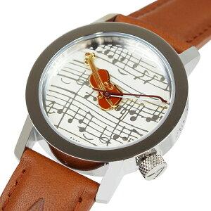 アクテオAKTEOメンズレディース腕時計グッズ34mmSTRADVIOLINウォッチ時計ブラウンフランス製