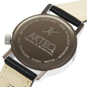 アクテオAKTEOメンズレディース腕時計グッズ34mmCINEMACLAPウォッチ時計ブラックフランス製