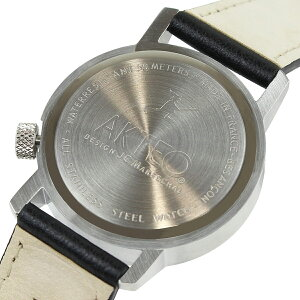 アクテオAKTEOメンズレディース腕時計グッズ34mmCYCLIST02ウォッチ時計ブラックフランス製