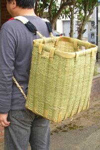 収穫やイベントに 竹製 背負い籠 角大