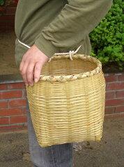 収穫やイベントに 手作り竹万能腰カゴ