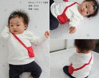 大人気ポシェット付きトップスドット柄のポケットがbabyらしくて可愛い♪日本製で安心♪プリン登場!(80cm90cm95cm100cm)日本製