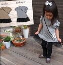 子供服 トップス パフスリーブ半袖*ブラックアリスポシェットチュールレースチュニック(80cm 90cm 95cm 100cm)保育園・メール便可13