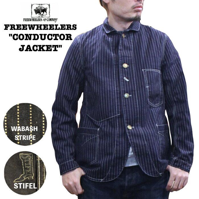 メンズファッション, コート・ジャケット  CONDUCTOR JACKET FREEWHEELERS UNION SPECIAL OVERALLSINDIGO WABASH STRIPE 1921016