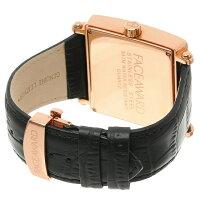 大人気FACEAWARDフェイスアワード腕時計watchSWAROVSKIスワロフスキーキュービックジルコニアローズゴールドケース男性に人気ウォッチFA012ALORENRG/BK/BK日本製3気圧防水本革ベルトセレブアクセサリーカジュアルプレゼントに高級感