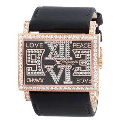 大人気FACEAWARDフェイスアワード腕時計watchスワロフスキージルコニアウォッチFA011SDietrich-SRG/BK/SBK芸能人着用セレブアクセサリーカジュアルファッションプレゼントに高級感パリピエナメルベルト