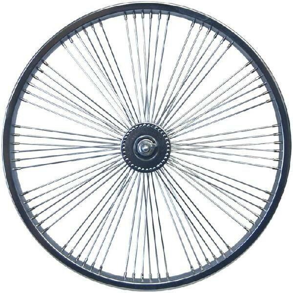 72スポーク デイトン ファン ホイール フロント クローム 20インチ 自転車部品 ローライダー 自転車 パーツ ビーチクルーザー アクセサリー カスタム 部品 改造 BMX MTB GRQ  サイクルパーツ Schwinn シュウィン スティングレー エレクトラ レインボー コンプトン
