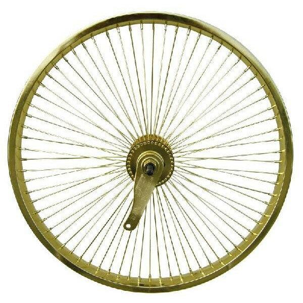 72スポーク デイトン リア コースターブレーキ付き ホイール ゴールド 20インチ 自転車部品 ローライダー 自転車 パーツ ビーチクルーザー カスタム 部品 改造 BMX MTB GRQ  サイクルパーツ Schwinn シュウィン スティングレー エレクトラ レインボー コンプトン