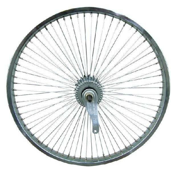 72スポーク デイトン リア コースターブレーキ付き ホイール クローム 20インチ 自転車部品 ローライダー 自転車 パーツ ビーチクルーザー カスタム 部品 改造 BMX MTB GRQ  サイクルパーツ Schwinn シュウィン スティングレー エレクトラ レインボー コンプトン