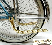 送料無料 ツイスト マフラー ゴールド メッキ パイプカッター テールパイプ 自転車 パーツ ローライダー ビーチクルーザー 自転車部品 ローチャリ アクセサリー カスタム 部品 改造 BMX MTB サイクルパーツ Schwinn シュウィン スタイル ママチャリ レインボー コンプトン