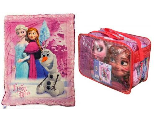 アナと雪の女王 ボアブランケット ピンクビニールバッグ入り お昼寝用などに