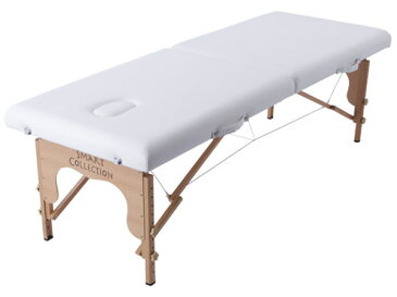 軽量木製折りたたみベッド (専用キャリーバッグ付)ホワイト【送料無料】