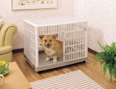 オールプラスチック製の良さを活かした室内犬に最適なケージ
