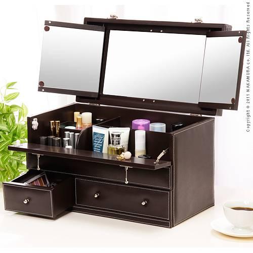 good thing rakuten global market leather like makeup box bijou bijou big box makeup. Black Bedroom Furniture Sets. Home Design Ideas