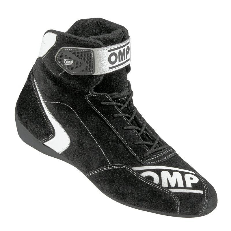 OMP FIRST S SHOES ブラック レーシングシューズ FIA公認8856-2000 (IC/802071)