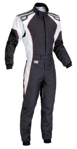 OMP KS-3 SUIT ブラック/ホワイト レーシングカートスーツ CIK-FIA LEVEL-2公認(カート用)