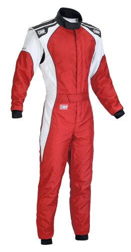 OMP KS-3 SUIT レッド/ホワイト レーシングカートスーツ CIK-FIA LEVEL-2公認(カート用)