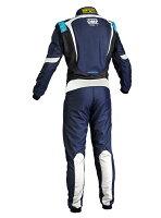2016年ニューモデルOMPONES1レーシングスーツネイビーブルー/シアン(NAVYBLUE/CYAN)FIA8856-2000公認注文予約