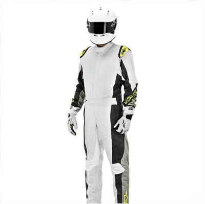 2013モデル アルパインスターズ 【GP TECH SUIT】レーシングスーツ シルバー×イエロー(シルバ...